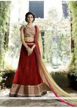 Wonderous Red A Line Lehenga Choli