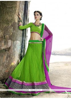 Prime Embroidered Work A Line Lehenga Choli