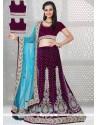 Intricate Velvet A Line Lehenga Choli