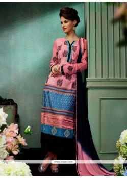Angelic Pink Embroidery Churidar Salwar Suit