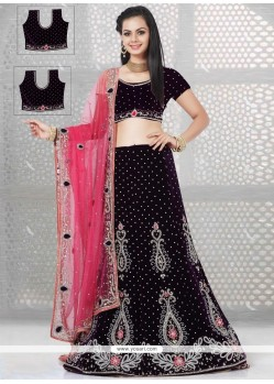 Honourable Purple Resham Work A Line Lehenga Choli