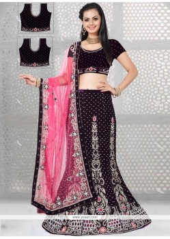 Attractive Resham Work A Line Lehenga Choli