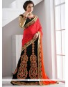 Energetic Black Zari Work Lehenga Saree