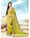 Jazzy Print Work Faux Crepe Casual Saree