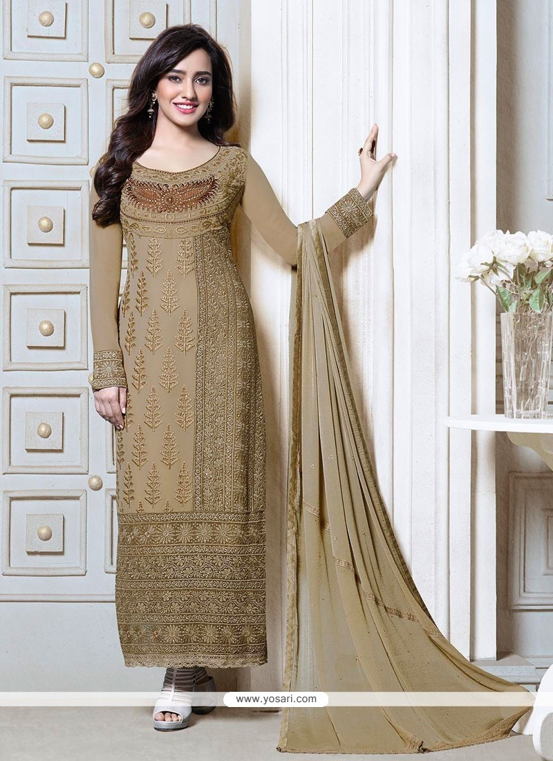 Neha Sharma Embroidery Churidar Suit