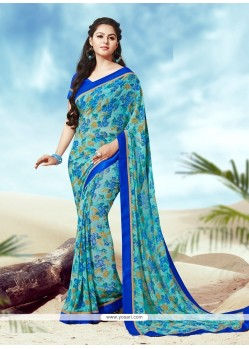 Latest Print Work Casual Saree