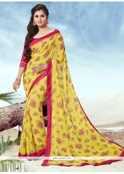 Pleasance Yellow Casual Saree