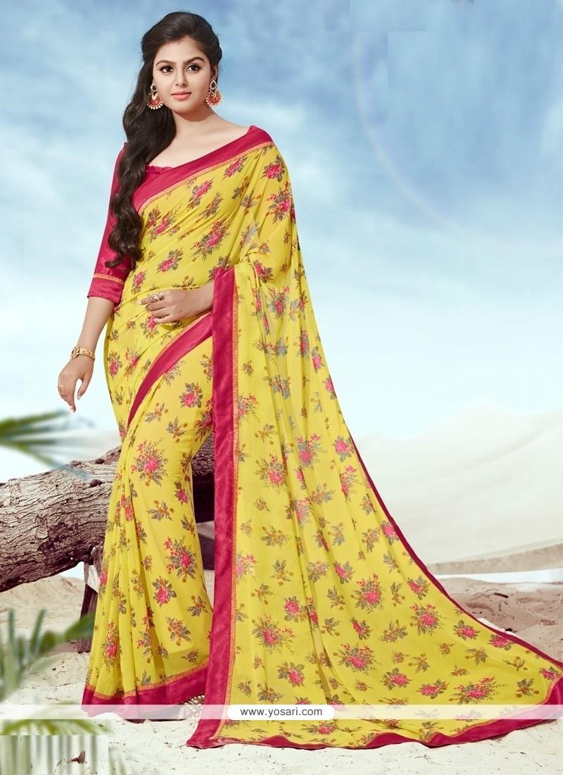 Pleasance Yellow Casual Saree