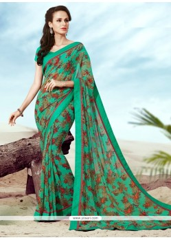Entrancing Print Work Casual Saree