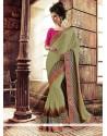 Praiseworthy Georgette Green Designer Saree