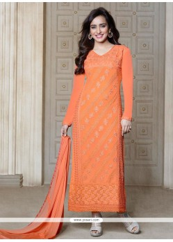 Neha Sharma Orange Salwar Suit