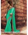 Prepossessing Green Resham Work Designer Saree