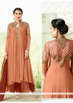 Karishma Kapoor Brown Designer Salwar Suit