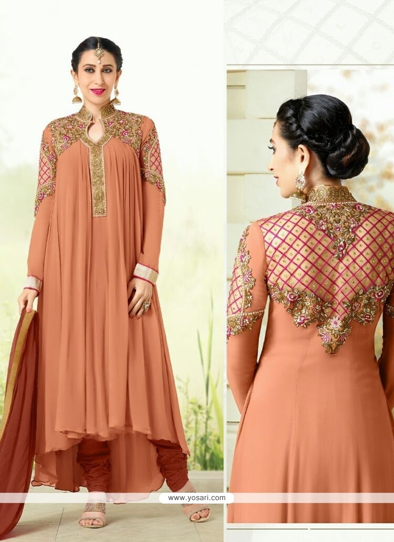 71d43689a8 Shop online Karishma Kapoor Brown Designer Salwar Suit