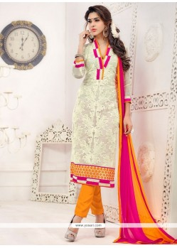 Flawless Net Churidar Salwar Suit
