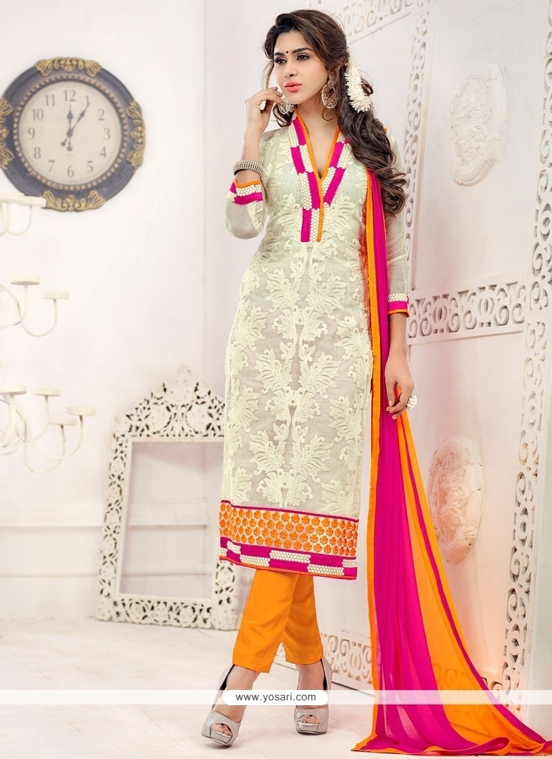 Flawless Net Churidar Salwar Suit