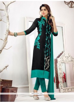 Awesome Black Churidar Salwar Kameez