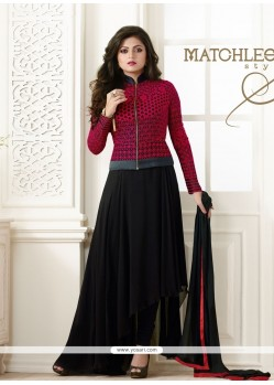 Splendid Resham Work Black Georgette Designer Salwar Suit