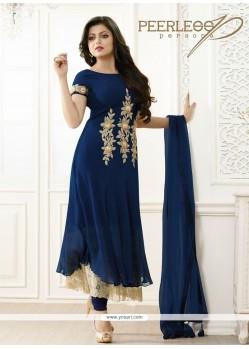 Winsome Resham Work Georgette Anarkali Salwar Suit