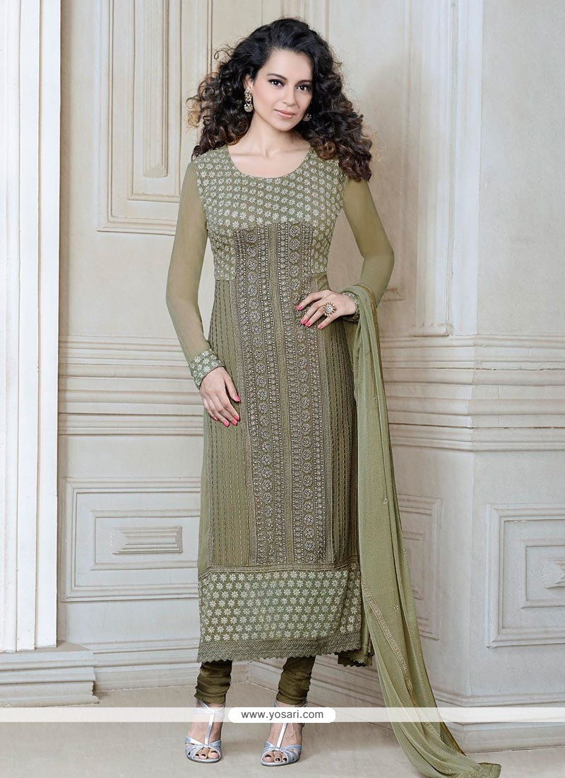 Kangana Ranaut Light Green Churidar Salwar Kameez
