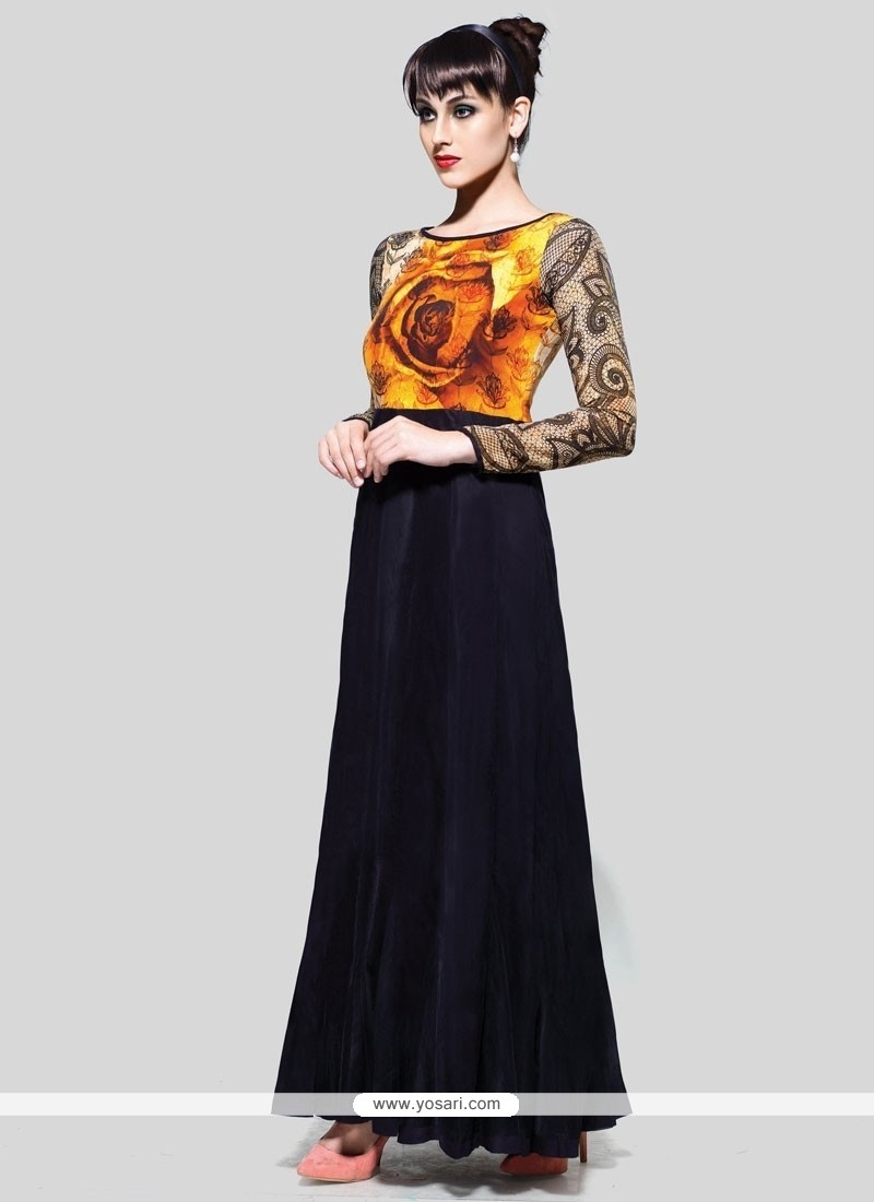 Immaculate Black Anarkali Suit