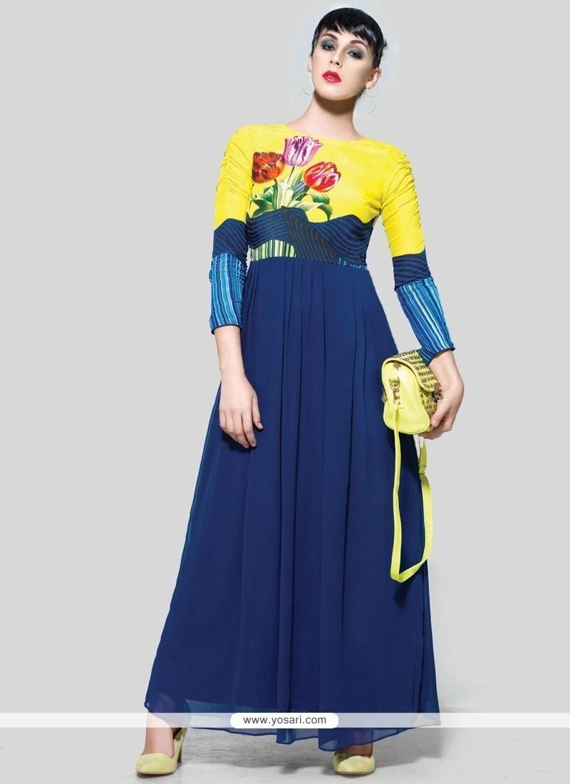 Classical Print Work Anarkali Suit