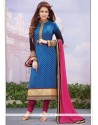 Surpassing Viscose Lace Work Designer Straight Salwar Suit