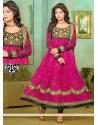 Perfect Magenta Net Designer Anarkali Suit