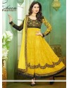 Observable Yellow Resham Anarkali Suit