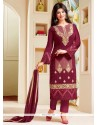 Ayesha Takia Maroon Pant Style Suit