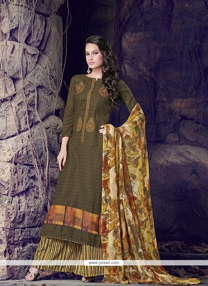 Strange Cotton Designer Palazzo Salwar Suit