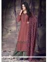 Lovely Print Work Designer Palazzo Salwar Suit
