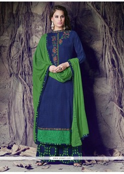 Astonishing Blue Designer Palazzo Salwar Suit