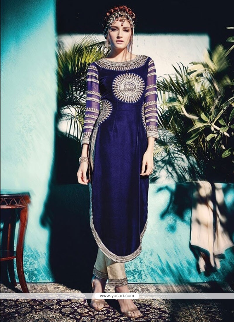 Desirable Resham Work Pant Style Suit