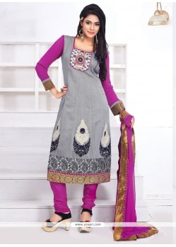 Marvelous Resham Work Anarkali Salwar Suit