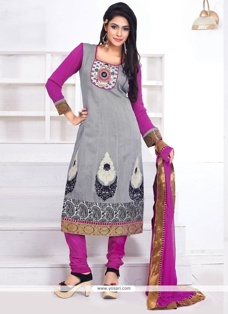 Marvelous Resham Work Anarkali Salwar Suit