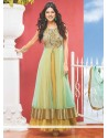 Multi Color Net Designer Anarkali Suit