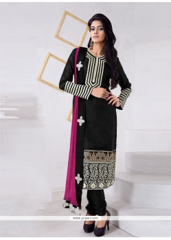Blissful Jacquard Black Churidar Designer Suit