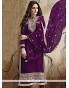 Regal Purple Churidar Salwar Kameez