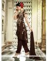 Regal Brown Zari Work Designer Salwar Suit