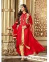 Elegant Embroidered Work Georgette Designer Salwar Suit