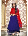 Intriguing Embroidered Work Anarkali Suit