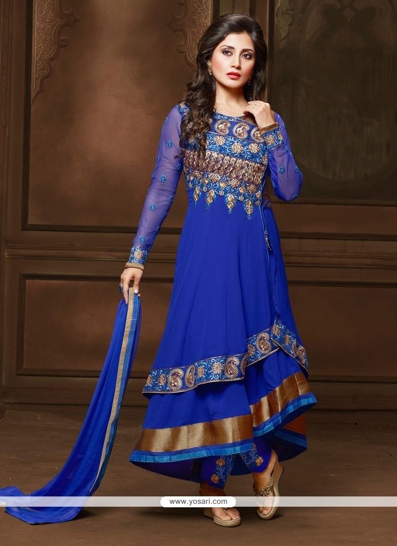 Luscious Georgette Anarkali Salwar Suit