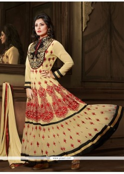 Precious Cream Georgette Anarkali Suit