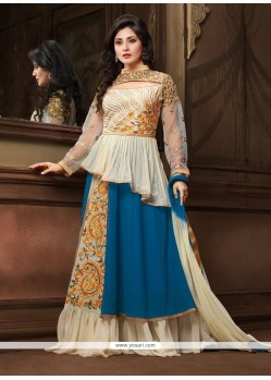 Graceful Georgette Blue Designer Salwar Suit