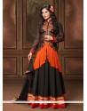 Glitzy Embroidered Work Georgette Black Designer Salwar Suit