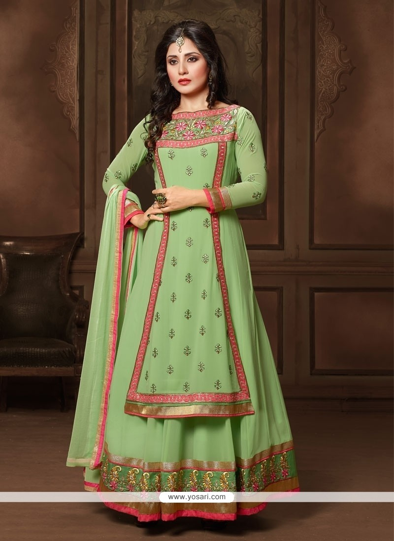 Amusing Georgette Anarkali Salwar Suit