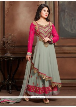 Nice Zari Work Anarkali Salwar Suit
