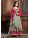 Nice Zari Work Anarkali Salwar Suit
