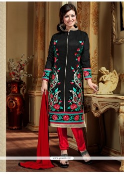 Charismatic Embroidered Work Designer Straight Salwar Suit